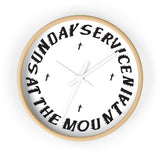 Sunday Service At The Mountain Wall clock - Kanye West Sunday Service Coachella-10 in-Wooden-White-Archethype