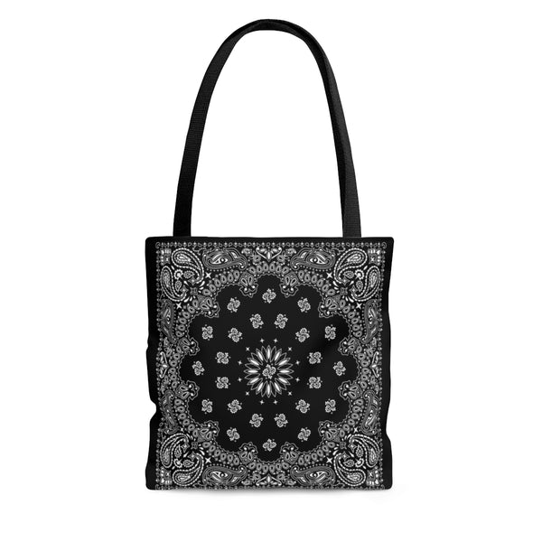 Black Bandana Tote Bag - YSL Saint Laurent inspired-Small-Archethype
