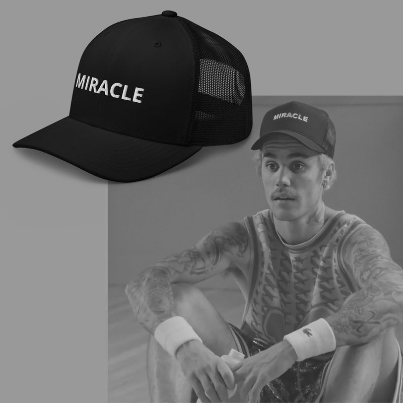 Miracle Trucker Cap Hat - Justin Bieber Inspired-Archethype