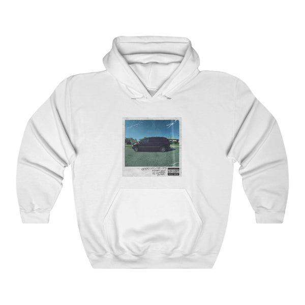 Good Kid, m.A.A.d city Kendrick Lamar inspired Unisex Hooded Sweatshirt-White-L-Archethype