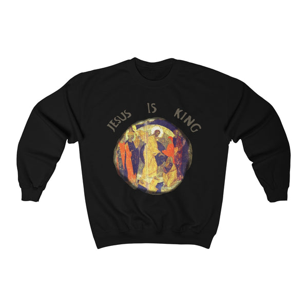 Jesus is King Unisex Heavy Blend Crewneck Sweatshirt - Kanye West Sunday Service Inspired-Black-S-Archethype
