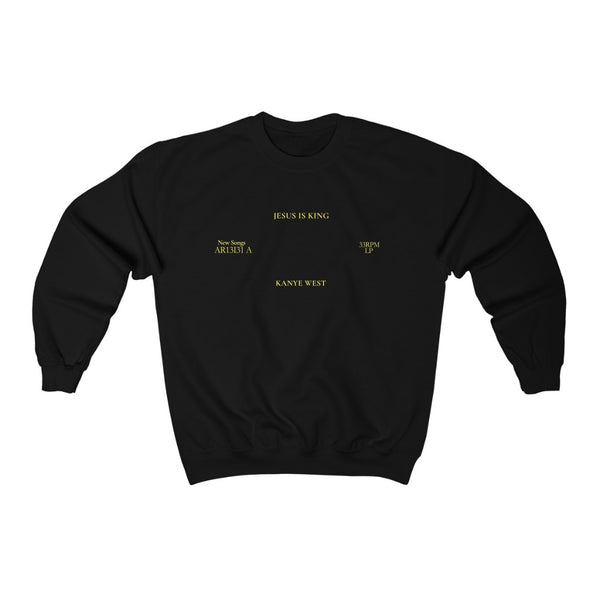 Jesus is King Inspired Crewneck - Kanye West Merch Sweatshirt-Black-S-Archethype