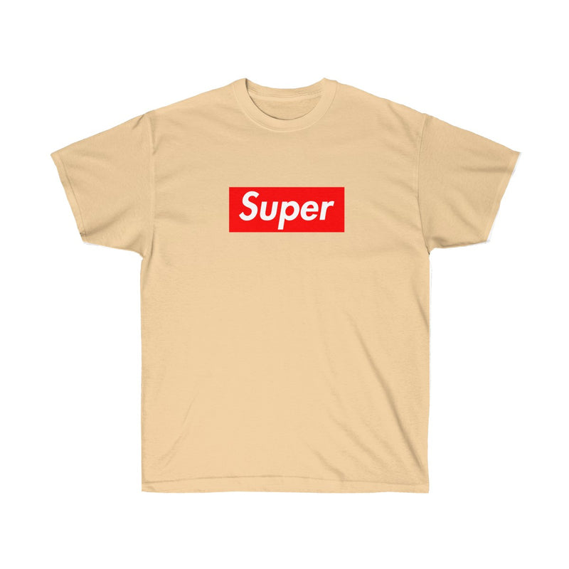 Super Red Box Logo Tee-Vegas Gold-S-Archethype