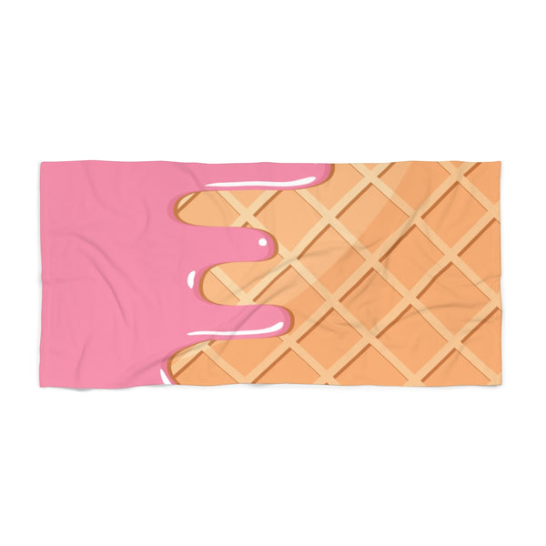 Waffle and Ice Cream Beach Towel-30x60-Archethype