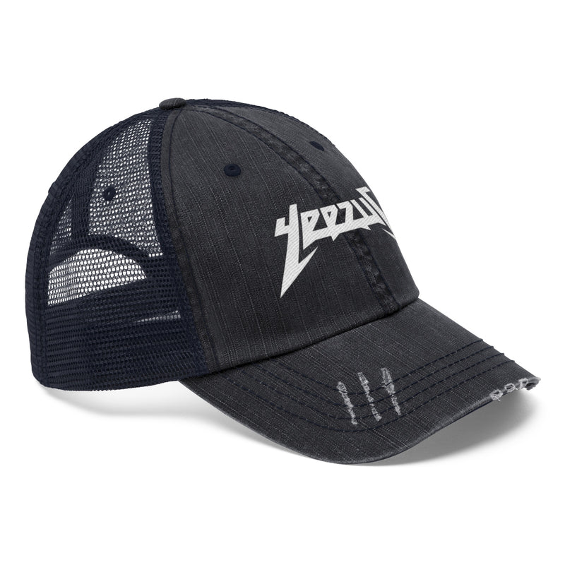 Yeezus Unisex Trucker Hat-True Navy-One size-Archethype