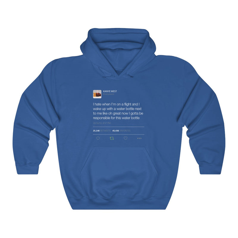 I Hate When I'm On A Flight And... - Kanye West Tweet Inspired Unisex Hooded Sweatshirt-Royal-S-Archethype