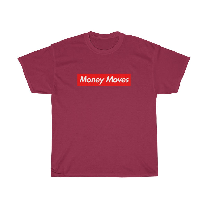 Money Moves Red Box Logo Tee-Cardinal Red-S-Archethype
