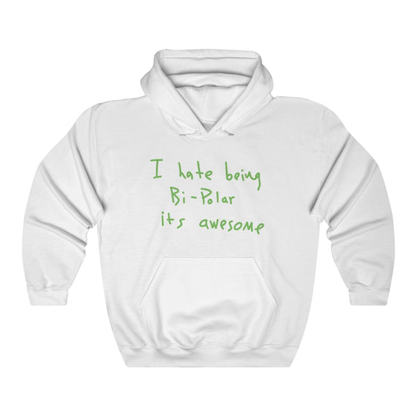I hate being Bi-Polar it's awesome Kanye West inspired Heavy Blend™ Hoodie-White-S-Archethype