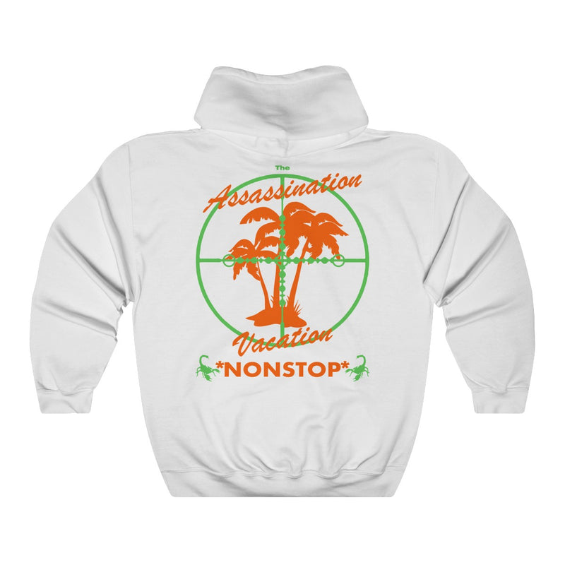 Assassination Vacation Tour Drake merch inspired - Unisex Heavy Blend™ Hooded Sweatshirt-White-S-Archethype