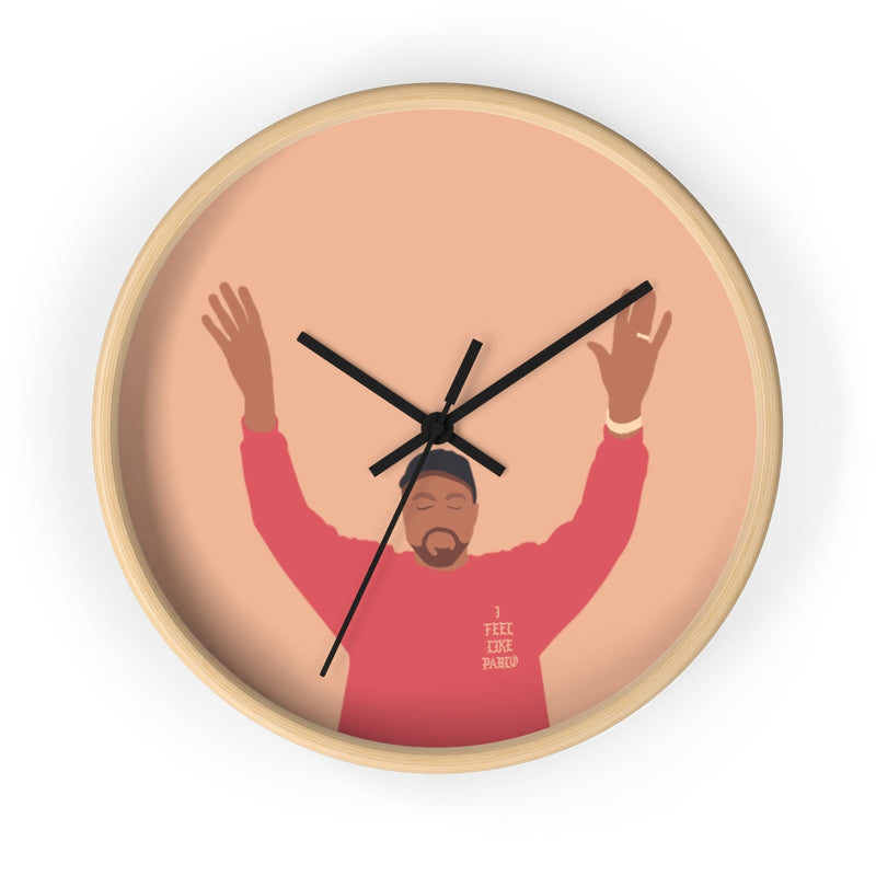 Kanye West I Feel Like Pablo Wall clock - The Life of Pablo TLOP tour merch inspired-10 in-Wooden-Black-Archethype