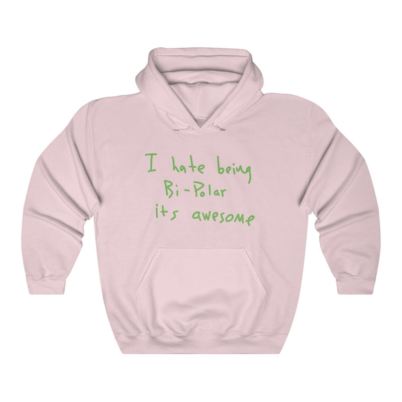 I hate being Bi-Polar it's awesome Kanye West inspired Heavy Blend™ Hoodie-Light Pink-S-Archethype
