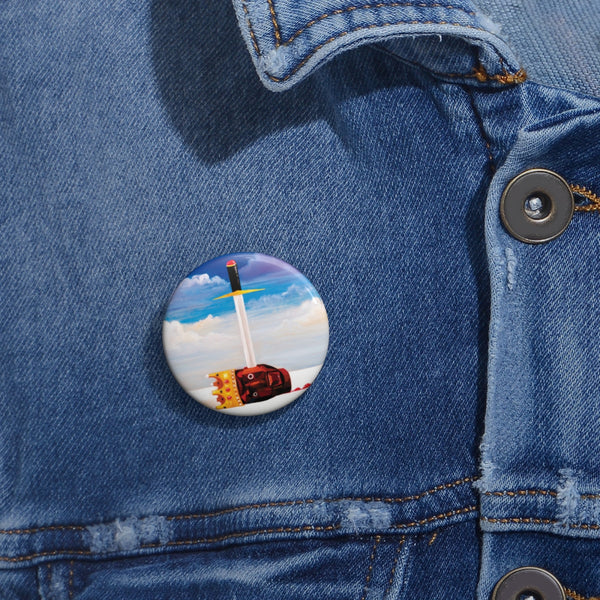 Kanye West inspired Dark Twisted Fantasy Pin Buttons-Archethype