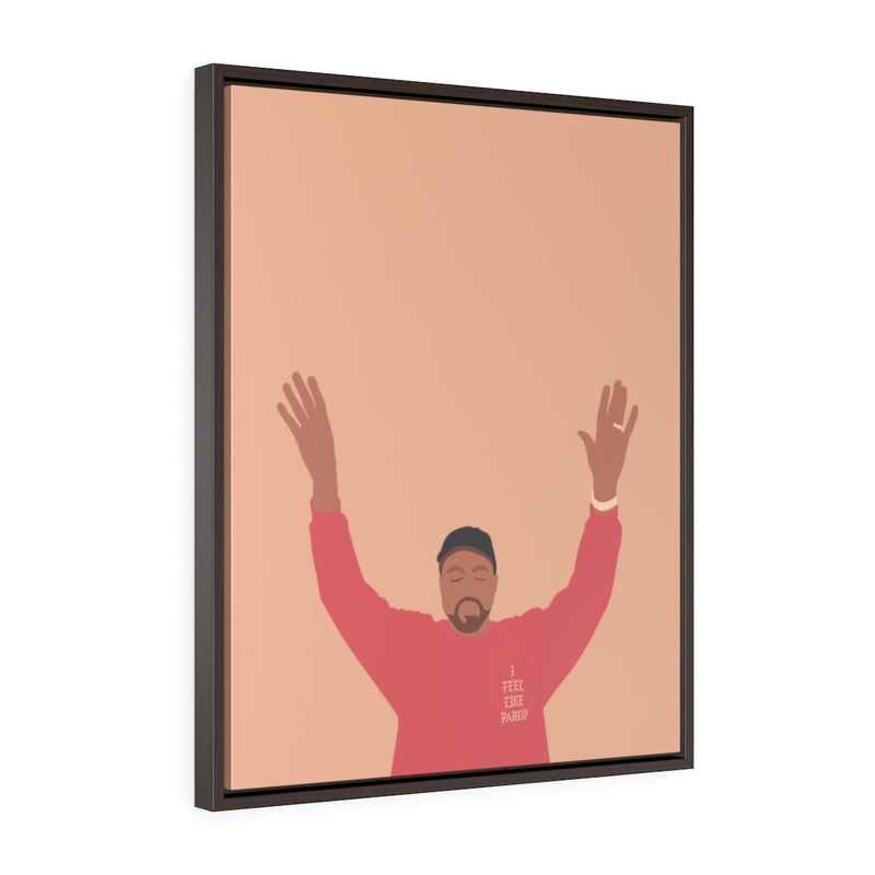 Kanye West I Feel Like Pablo Framed Premium Gallery Wrap Canvas - The Life of Pablo TLOP tour merch inspired-24″ × 30″-Premium Gallery Wraps (1.25″)-Walnut-Archethype