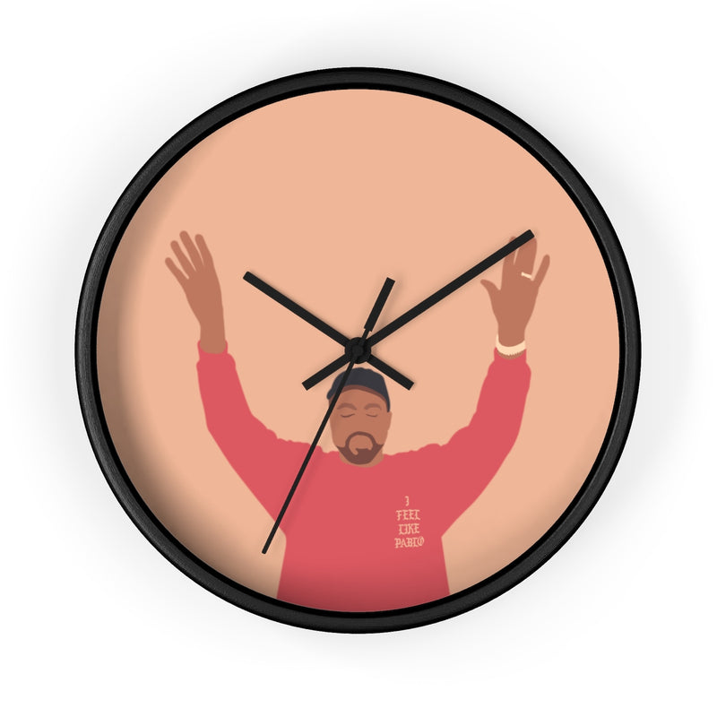 Kanye West I Feel Like Pablo Wall clock - The Life of Pablo TLOP tour merch inspired-10 in-Black-Black-Archethype