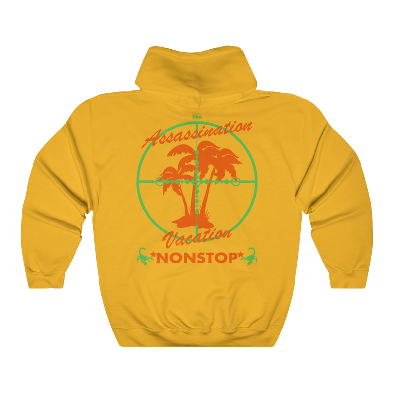 Assassination Vacation Tour Drake merch inspired - Unisex Heavy Blend™ Hooded Sweatshirt-Gold-S-Archethype