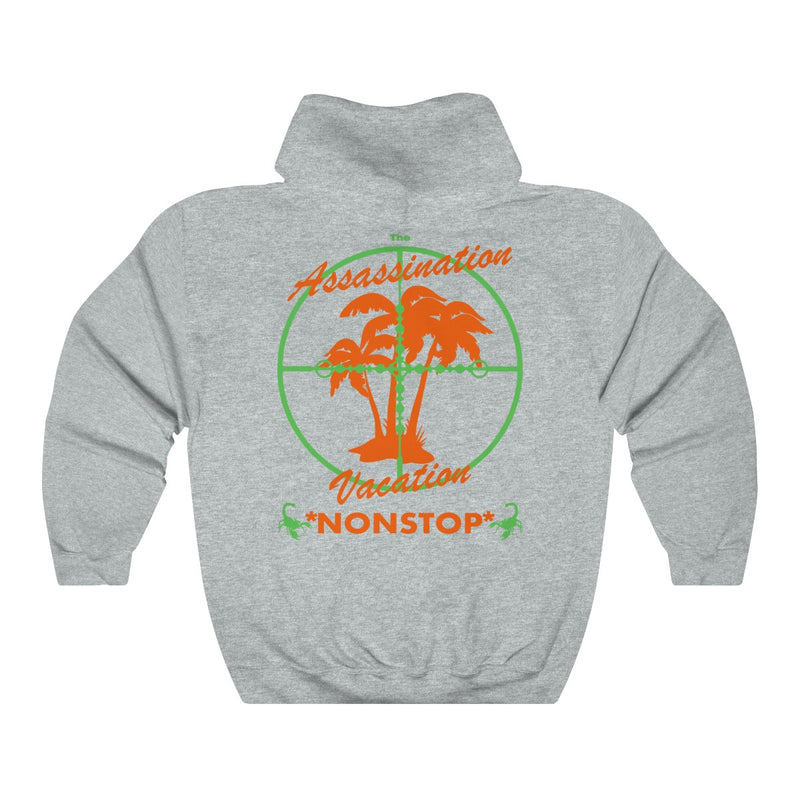 Assassination Vacation Tour Drake merch inspired - Unisex Heavy Blend™ Hooded Sweatshirt-Ash-S-Archethype