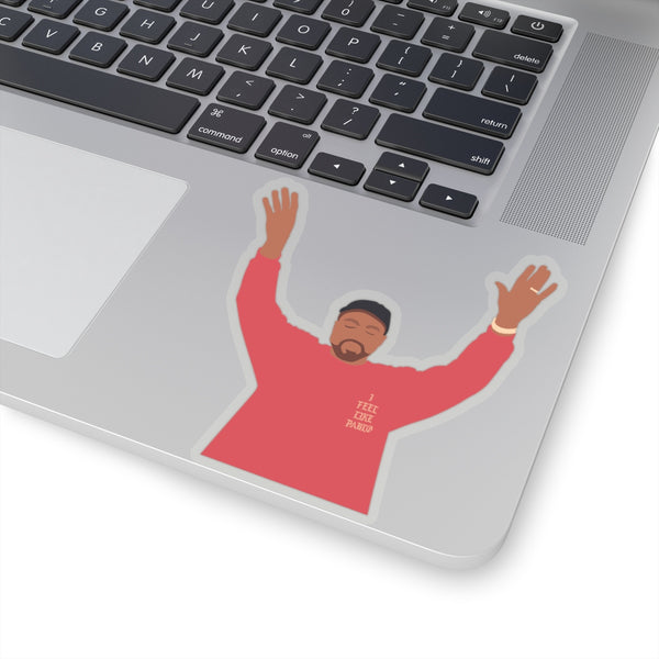"Kanye West I Feel Like Pablo Stickers - The Life of Pablo tour merch-4x4""-Transparent-Archethype"