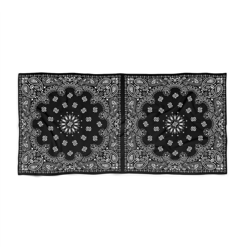 Black Bandana Beach Towel-36x72-Archethype