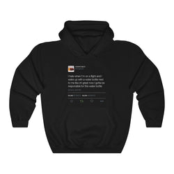 I Hate When I'm On A Flight And... - Kanye West Tweet Inspired Unisex Hooded Sweatshirt-Black-L-Archethype