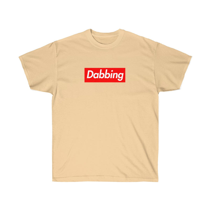 Dabbing Red Box Logo Tee - To Dab All Day-Vegas Gold-S-Archethype