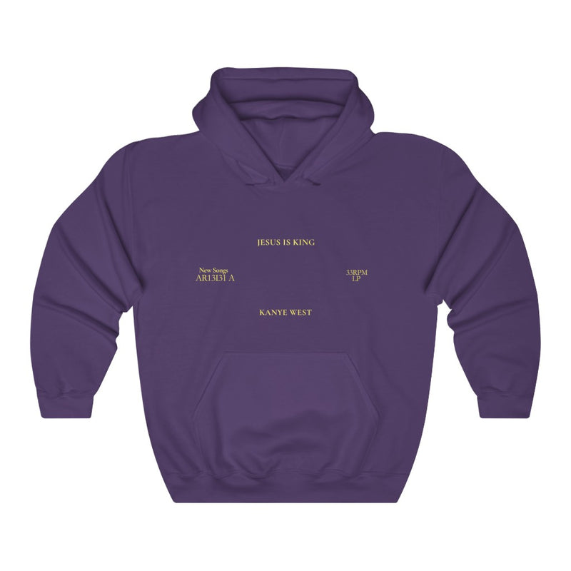 Jesus is King Hooded Sweatshirt - Kanye West Sunday Service Tour Merch Hoodie-S-Purple-Archethype