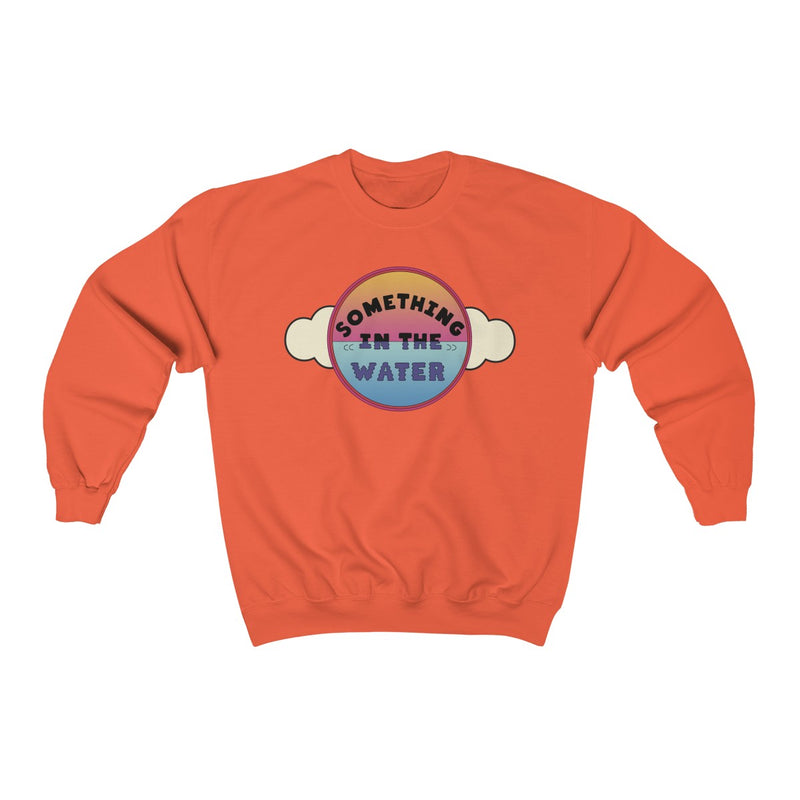 Something in the water Unisex Heavy Blend Crewneck Sweatshirt - Pharrell Williams festival merch inspired-Orange-S-Archethype