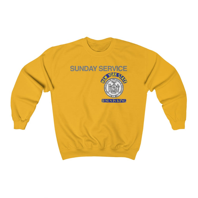 Jesus is King New York Seal Inspired Unisex Ultra Cotton Crewneck - Kanye West Sunday Service Tour Merch-Gold-S-Archethype