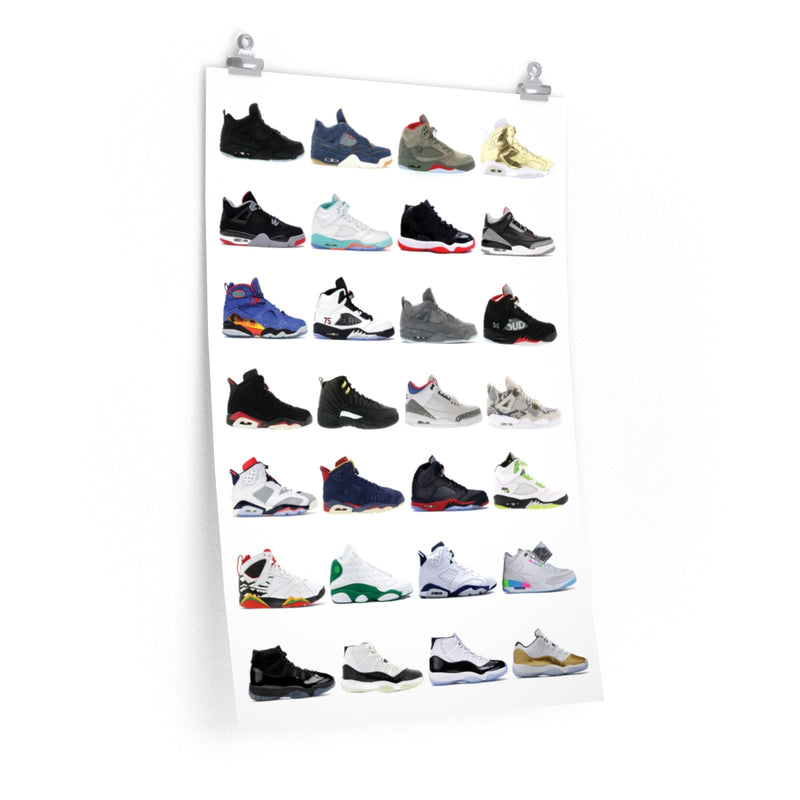 Nike Air Jordans Hall of Fame Poster - Michael Jordan Wall Art-20″ × 30″-Archethype