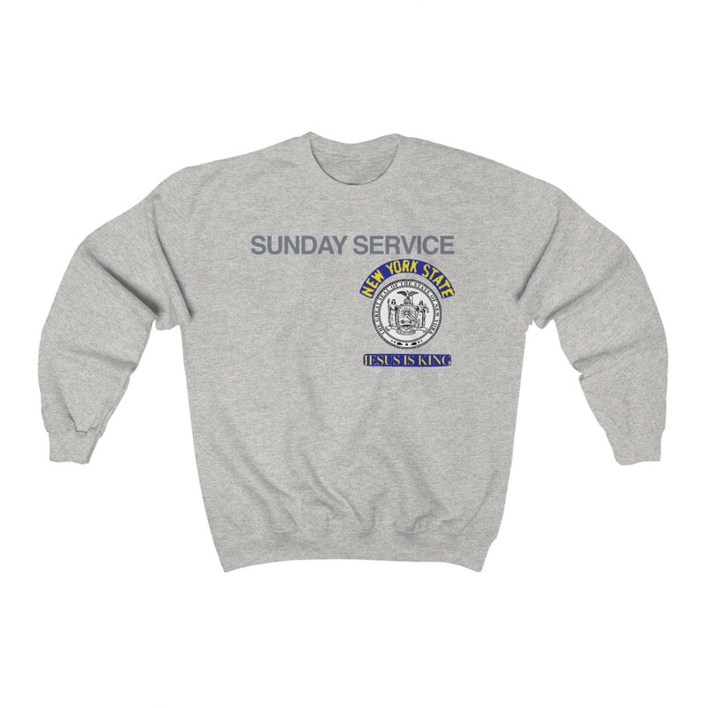 Jesus is King New York Seal Inspired Unisex Ultra Cotton Crewneck - Kanye West Sunday Service Tour Merch-Ash-S-Archethype