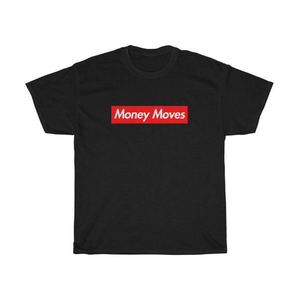 Money Moves Red Box Logo Tee-Black-L-Archethype
