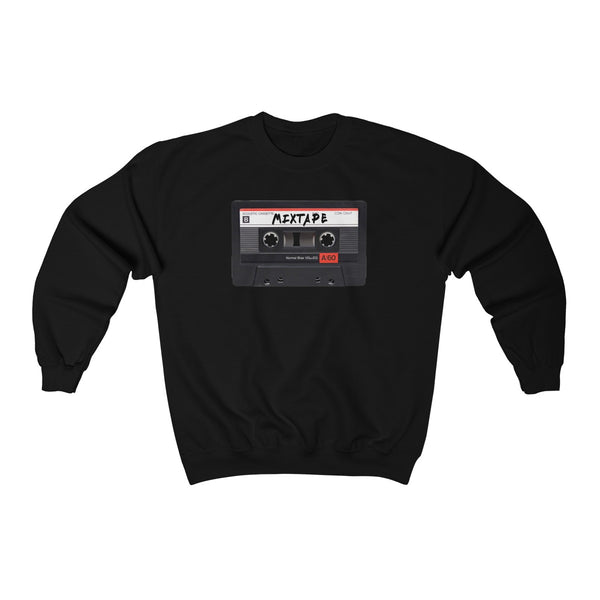 Mixtape Tape Heavy Blend™ Crewneck Sweatshirt-Black-S-Archethype