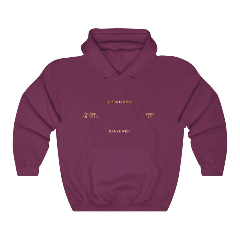 Jesus is King Hooded Sweatshirt - Kanye West Sunday Service Tour Merch Hoodie-S-Maroon-Archethype