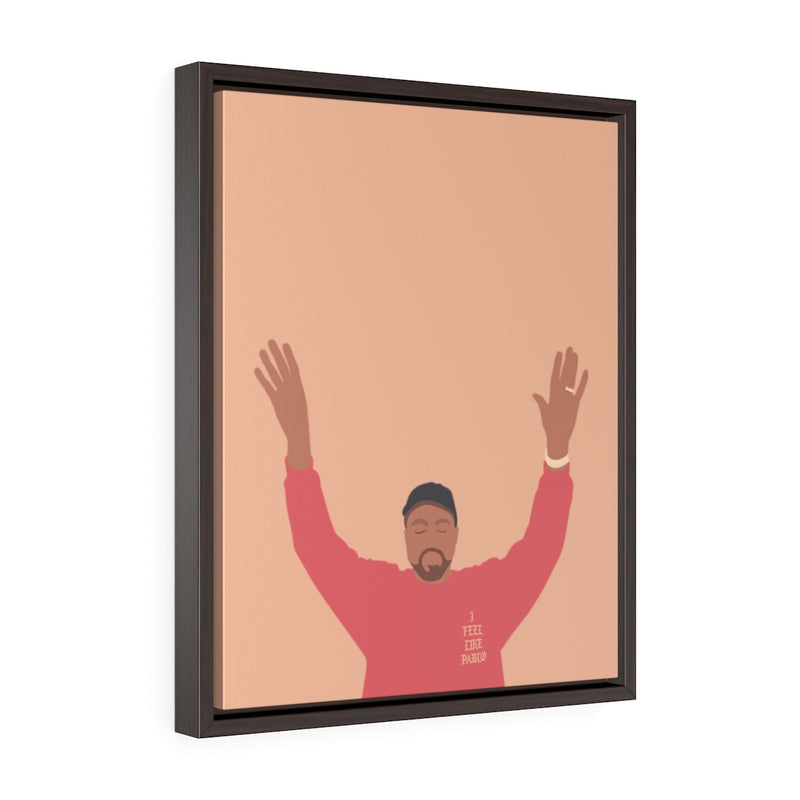 Kanye West I Feel Like Pablo Framed Premium Gallery Wrap Canvas - The Life of Pablo TLOP tour merch inspired-16″ × 20″-Premium Gallery Wraps (1.25″)-Walnut-Archethype