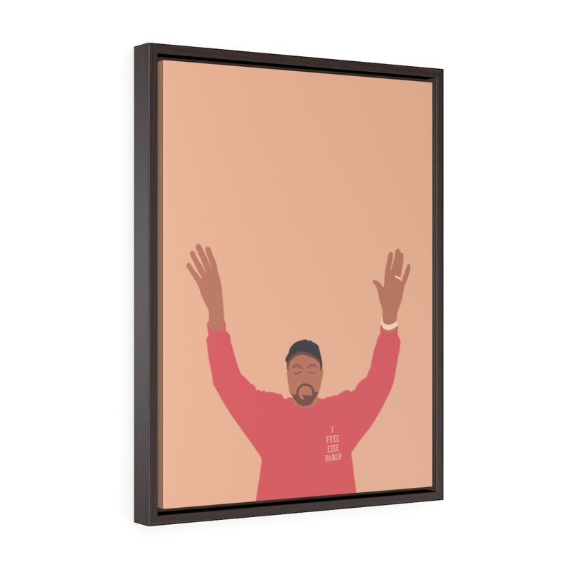 Kanye West I Feel Like Pablo Framed Premium Gallery Wrap Canvas - The Life of Pablo TLOP tour merch inspired-18″ × 24″-Premium Gallery Wraps (1.25″)-Walnut-Archethype