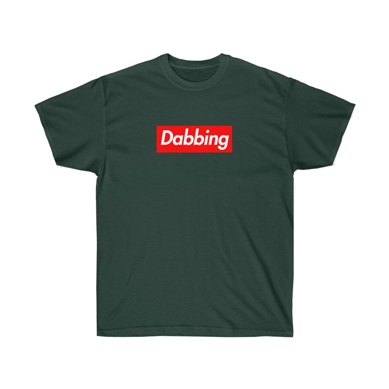 Dabbing Red Box Logo Tee - To Dab All Day-Forest Green-S-Archethype