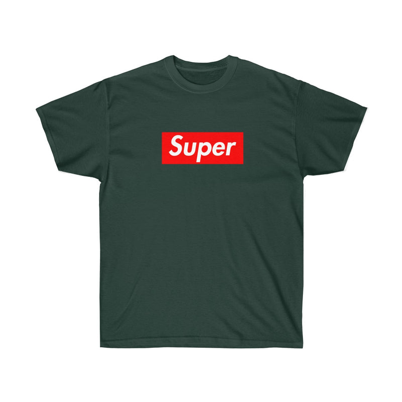 Super Red Box Logo Tee-Forest Green-S-Archethype