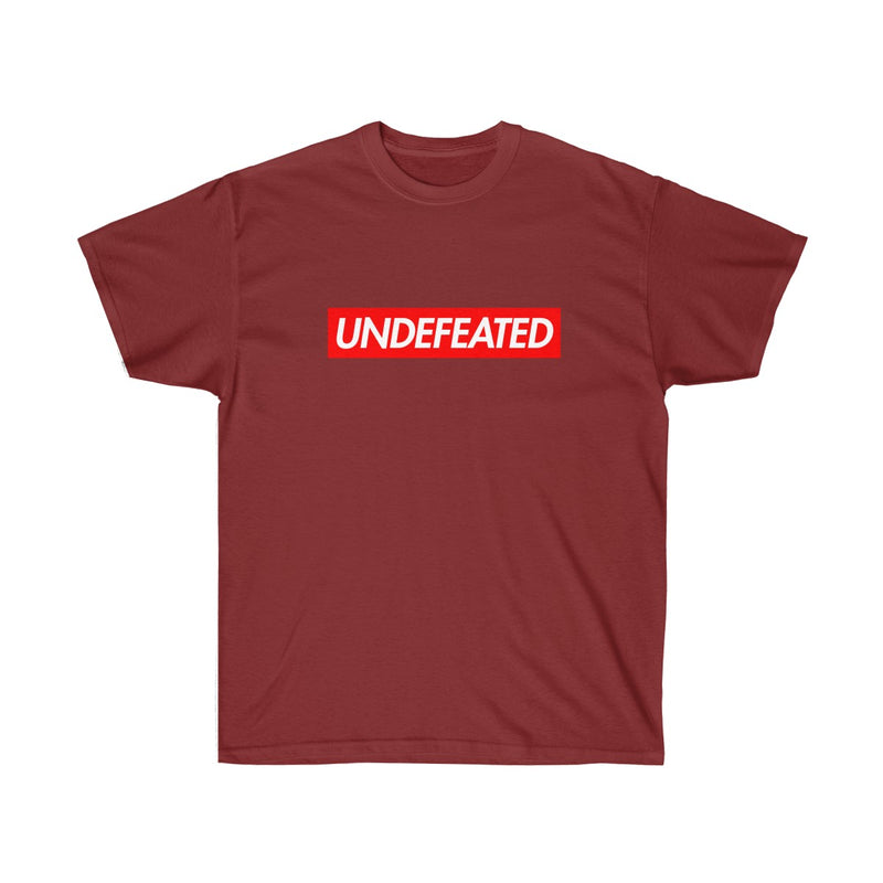 Undefeated Red Box Logo Tee-Cardinal Red-S-Archethype