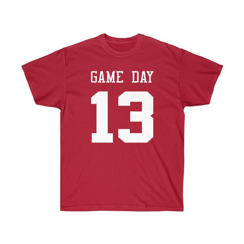 Game Day Tee - Sports T-shirt for Football, Basket, Soccer games-Cardinal Red-S-Archethype