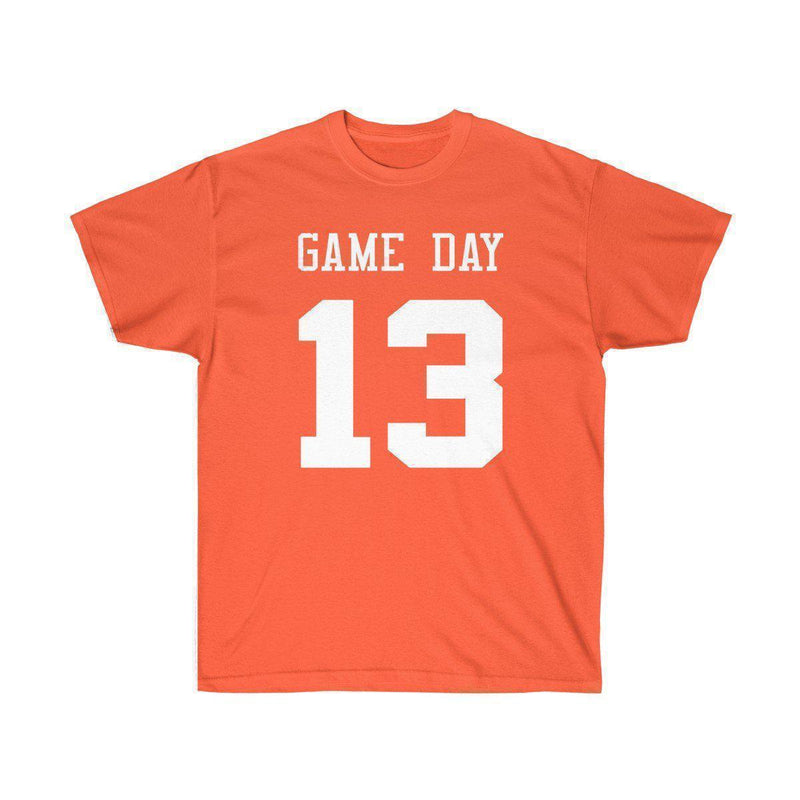 Game Day Tee - Sports T-shirt for Football, Basket, Soccer games-Orange-S-Archethype