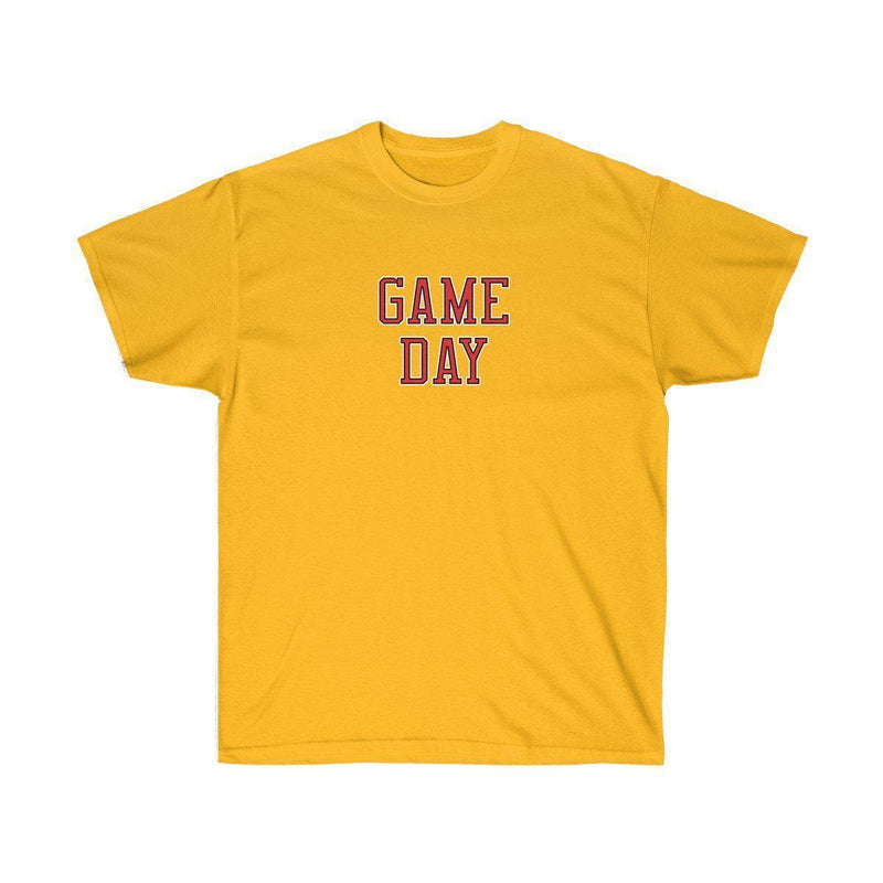 Game Day Tee - Sports T-shirt for Football, Basket, Soccer games-Gold-S-Archethype