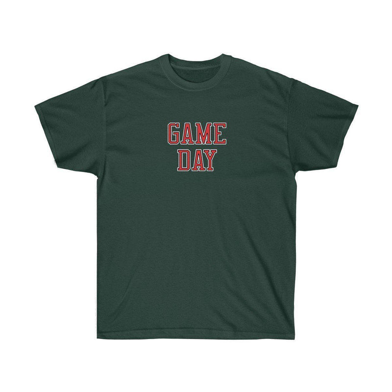 Game Day Tee - Sports T-shirt for Football, Basket, Soccer games-Forest Green-S-Archethype