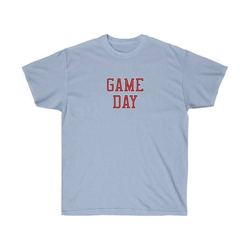 Game Day Tee - Sports T-shirt for Football, Basket, Soccer games-Light Blue-S-Archethype