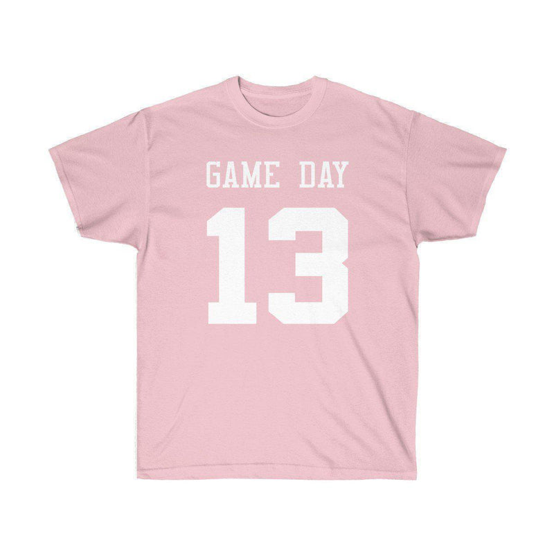 Game Day Tee - Sports T-shirt for Football, Basket, Soccer games-Light Pink-S-Archethype