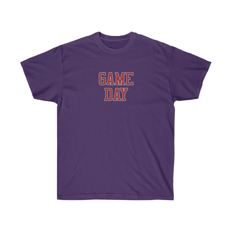 Game Day Tee - Sports T-shirt for Football, Basket, Soccer games-Purple-S-Archethype