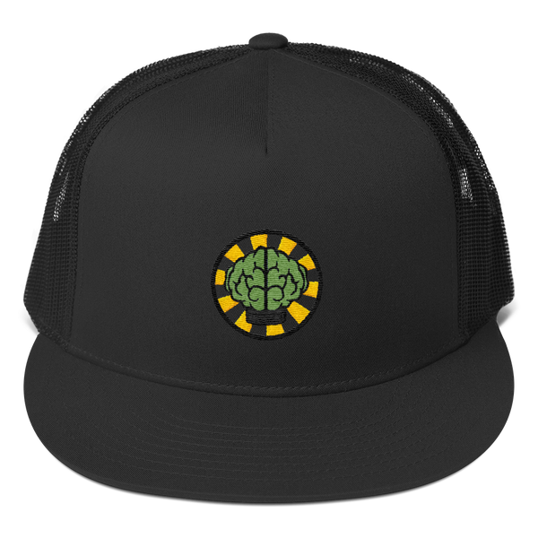 HypeMonsterz NERD Trucker Cap Inspired - Brain logo No one ever really dies-Black-Archethype