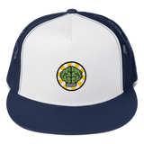 HypeMonsterz NERD Trucker Cap Inspired - Brain logo No one ever really dies-Navy/ White/ Navy-Archethype