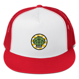HypeMonsterz NERD Trucker Cap Inspired - Brain logo No one ever really dies-Red/ White/ Red-Archethype