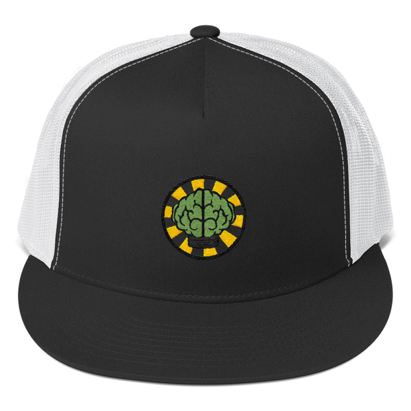 HypeMonsterz NERD Trucker Cap Inspired - Brain logo No one ever really dies-Black/ White-Archethype
