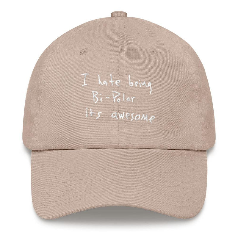 I Hate Being Bi-Polar It's Awesome Kanye West inspired Embroidery Dad Hat / Cap-Stone-Archethype
