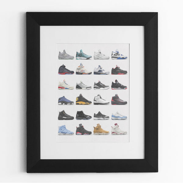 Nike Air Jordans Hall of Fame Poster - Michael Jordan Wall Art-16″ × 20″-Archethype